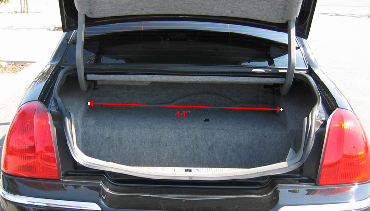 Lincoln Town Car Trunk Width